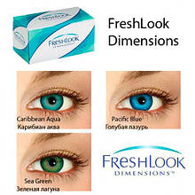 Цветные контактные линзы FreshLook Dimensions 0.0