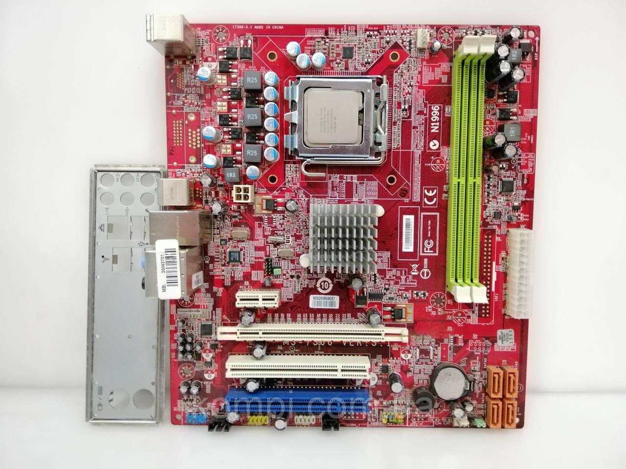 Материнская плата MSI P6NGM-L+E5200  S775/QUAD DDR2