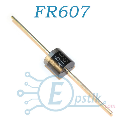 FR607, диод быстрый, 6А 1000В, R6