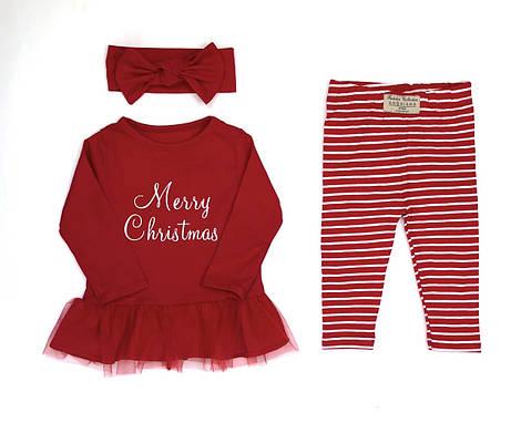 Комплект Рождественский Andriana Kids для девочки от 0 до 4 лет