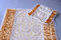 Ритуальный Комплект Атлас с драпировкой Парча.