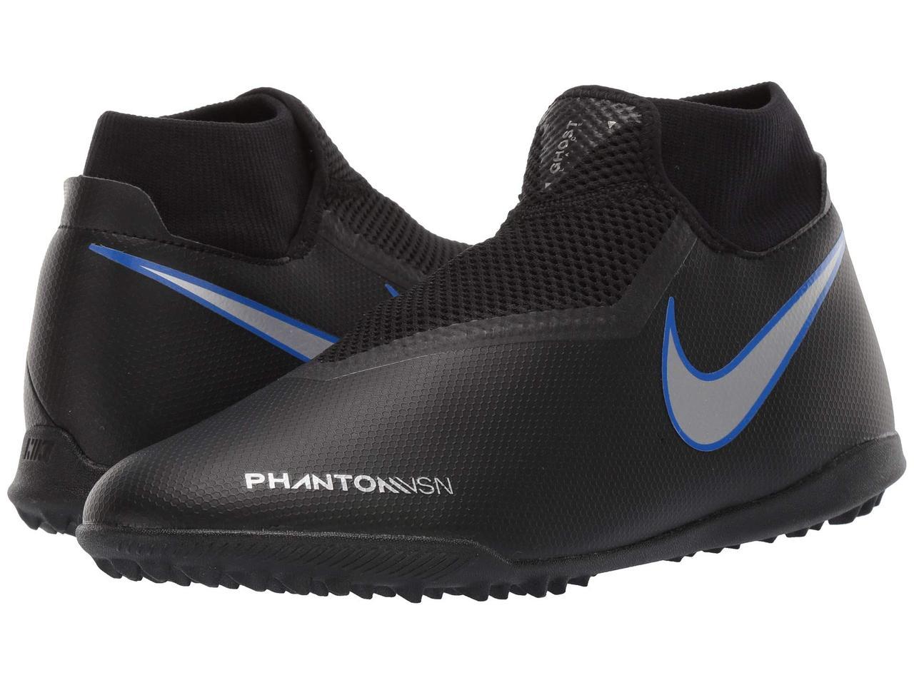 Кроссовки Кеды (Оригинал) Nike Phantom VSN Academy DF TF Black Metallic  Silver 30718135f90a9