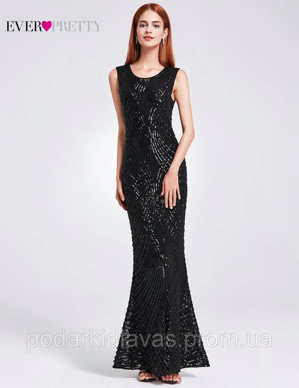 Платье вечернее сияющее длинное в пайетках  42-44