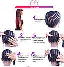 Сенегальские косы. Чёрные жгуты для волос. Разноцветные косички, фото 10