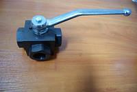 Блочный шаровый кран трехходовой DN25 1'  PN 500