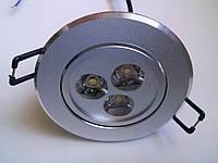 Точечный светильник CTC-LED 1180 SS 3Вт сатин серебро