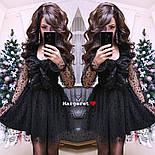 Женское стильное платье с сеткой , фото 2