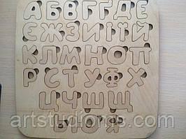 Деревянная азбука. Деревянный алфавит. Дерев'яна українська абетка  (велика)
