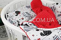Детский постельный набор в коляску (с съемным утеплителем) № 5-26