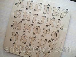 Деревянная азбука. Деревянный алфавит. Дерев'яна українська абетка  (мала)
