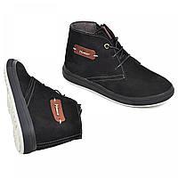 e00f1ec6c Зимние ботинки из натуральной кожи на овчине подростковые для мальчика Maxus
