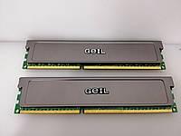 Оперативная память GEIL 4Gb(KIT 2x2GB) DDR3 PC3-10660 CL-9  б/у