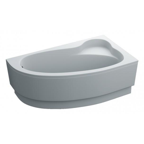 Ванна GLORIA Права 160Х90 акрилова асиметрична за панеллю Swan