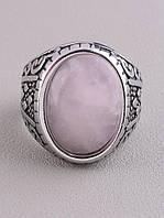 062645 Кольцо 'Stainless Steel' Розовый кварц