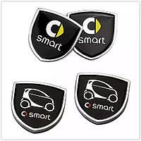 Эмблема Smart с метталической рамкой, фото 1