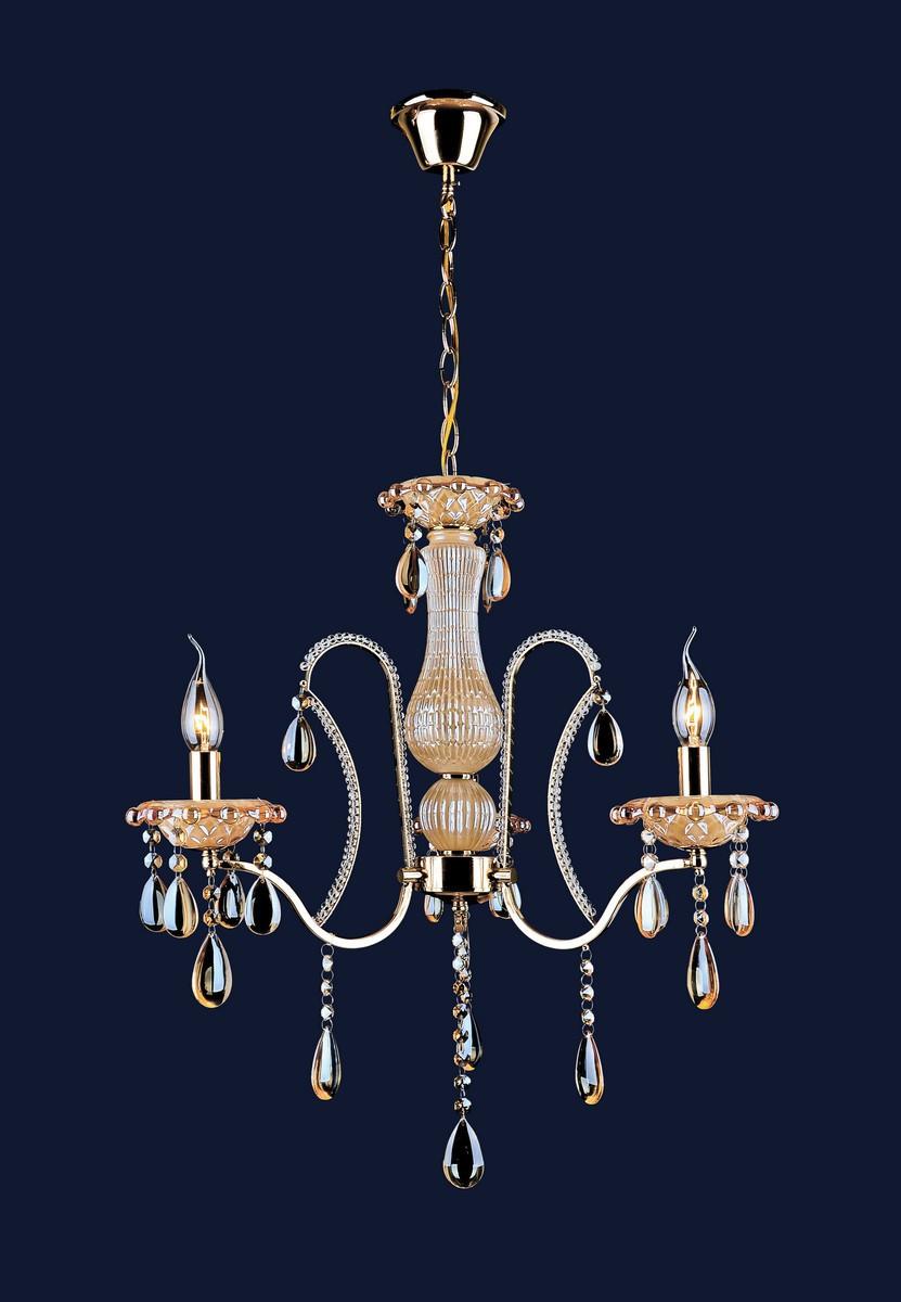 Люстра подвесная классическая Levistella 7027031-3 золото