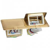 Люк для розеток в стол или пол, 8 модулей, латунь, 54018 Legrand