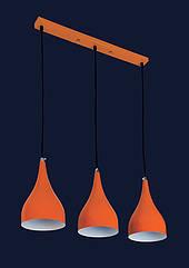 Люстра подвесная Levistella 7044460-3 оранжевый