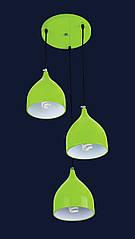 Люстра подвесная Levistella 7044462-3 салатовый