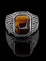 041638 Кольцо Тигровый глаз