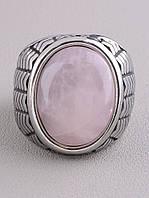062661 Кольцо 'Stainless Steel' Розовый кварц