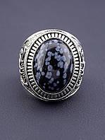039655 Кольцо Обсидиан