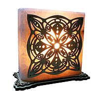 Соляная лампа Квадрат с узором