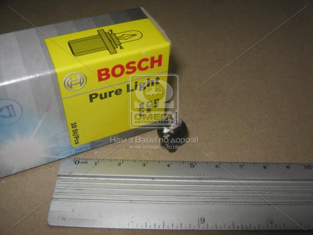 Лампа накаливания 12V 1,2W B8,5d  PURE LIGHT (пр-во Bosch) 1 987 302 219