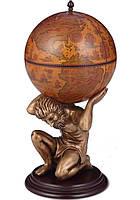 Глобус бар напольный коричневый Atlas 42016R-GR Оригинальный подарок
