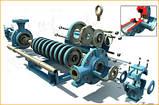 Насос ЦНСг 38-198 секционный центробежный для воды запчасти к насосу ЦНСг 38-198 рабочее колесо насоса вал, фото 3