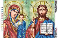 Схема для вышивки бисером иконостас Иисус Христос и БМ Казанская