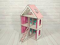 Кукольный Домик для кукол (ляльковий будинок) LOL LITTLE FUN + обои + шторки + лестница