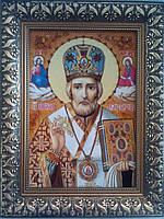 Икона Николай Чудотворец Янтарь