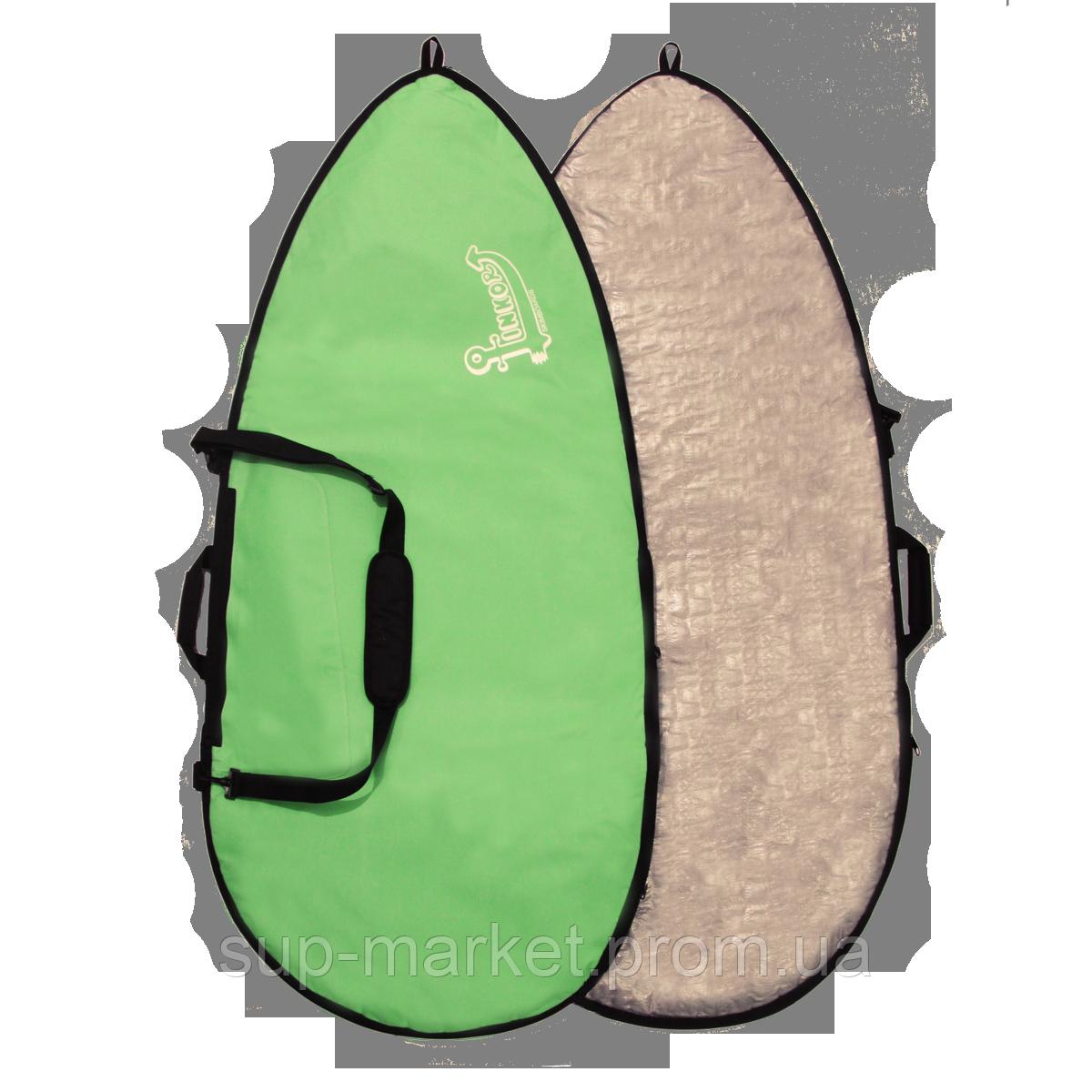 Чехол для вейксёрфа Linkorskimboards Wakesurf Pro Bag, 160 x 70cm, green