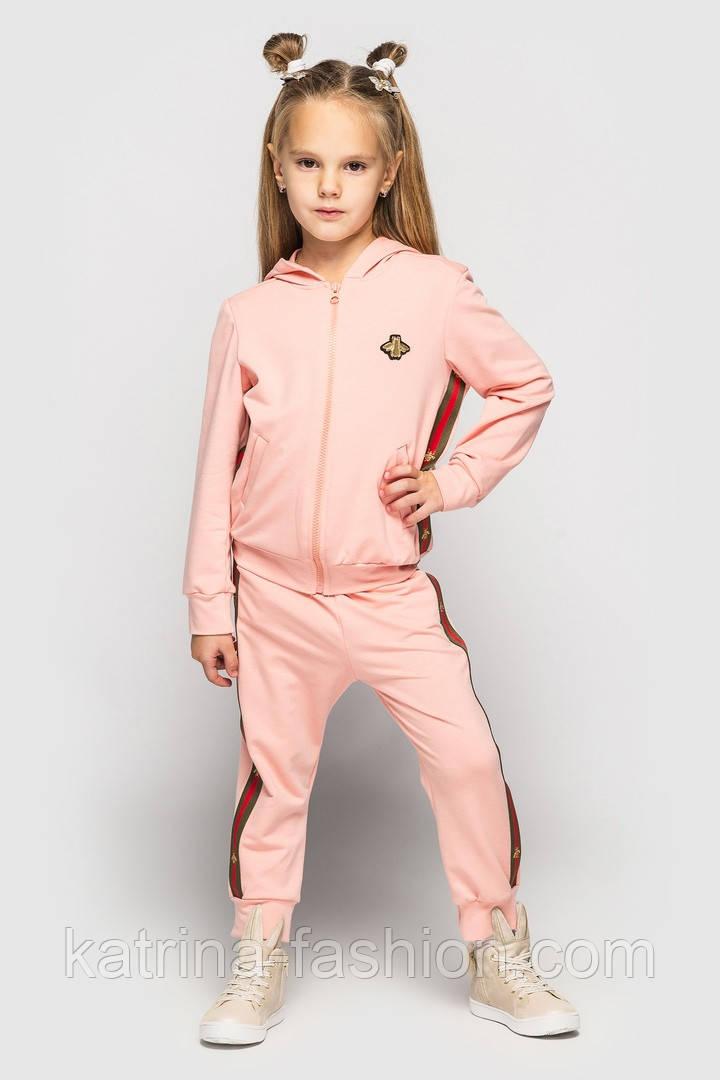 Детский спортивный костюм для мальчиков и девочек (в расцветках с нашивками)