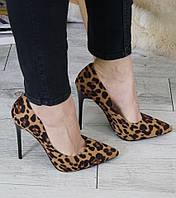 Женские туфли, эко кожа, каблук 11,5 см, леопардовый принт, 2018 40