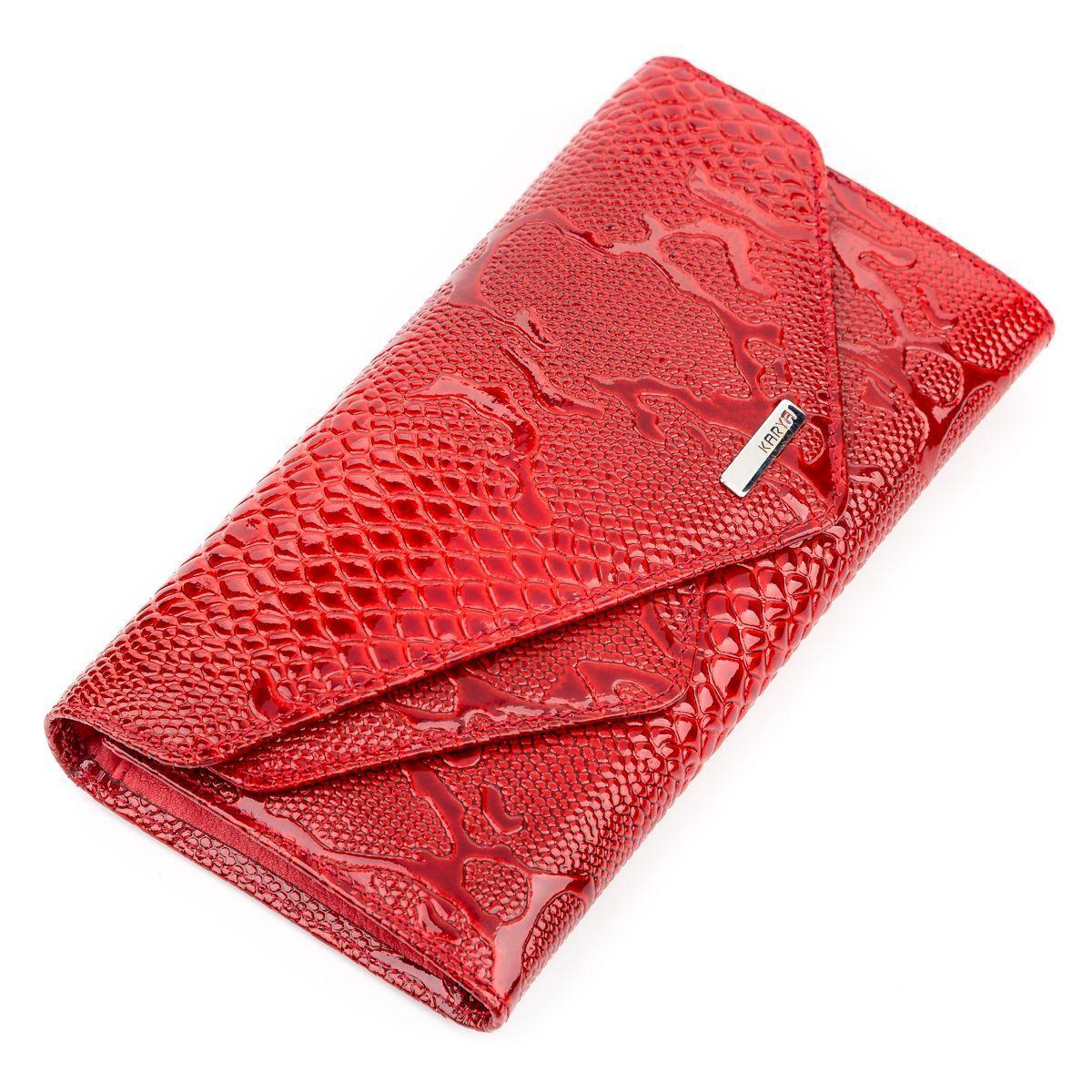 95af2c574c50 кошелек женский Karya 17189 кожаный красный красный цена 1 372 грн