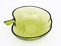 Винтажная салатница, цветное стекло, Германия, фото 1