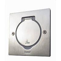 Розетка в пол / стол, квадратная, нержавеющая сталь, 89700 Legrand