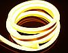 Светодиодный неон теплый белый 1м, 220В