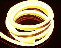 Светодиодный неон теплый белый 1м, 220В, фото 1