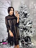 Женское красивое платье с сеткой (3 цвета), фото 3