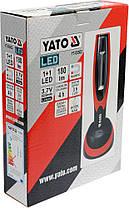 Світильник майстерний акумулятор Li-Ion- 3.7 V, з 2 LED по 180 lm, зарядний пристрій, YT-08502 YATO, фото 2