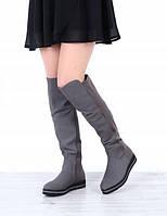 Демисезонные женские высокие сапоги, фото 1