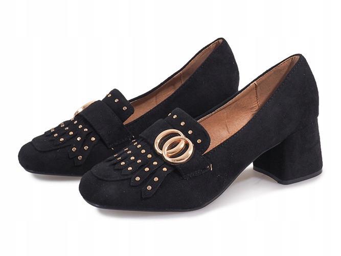 Полькие туфли на квадратном каблуке