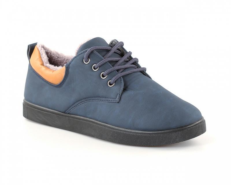 Мужские зимние кроссовки синего цвета