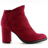 Красные привлекательные ботинки на каблуке, фото 1