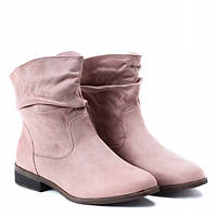 Молодёжные ботинки розового цвета на осень-весна, фото 1