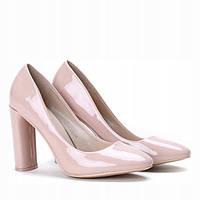 Лаковые качественные туфли на устойчивом каблуке