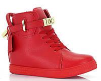 Стильные модные сникерсы красного цвета, фото 1